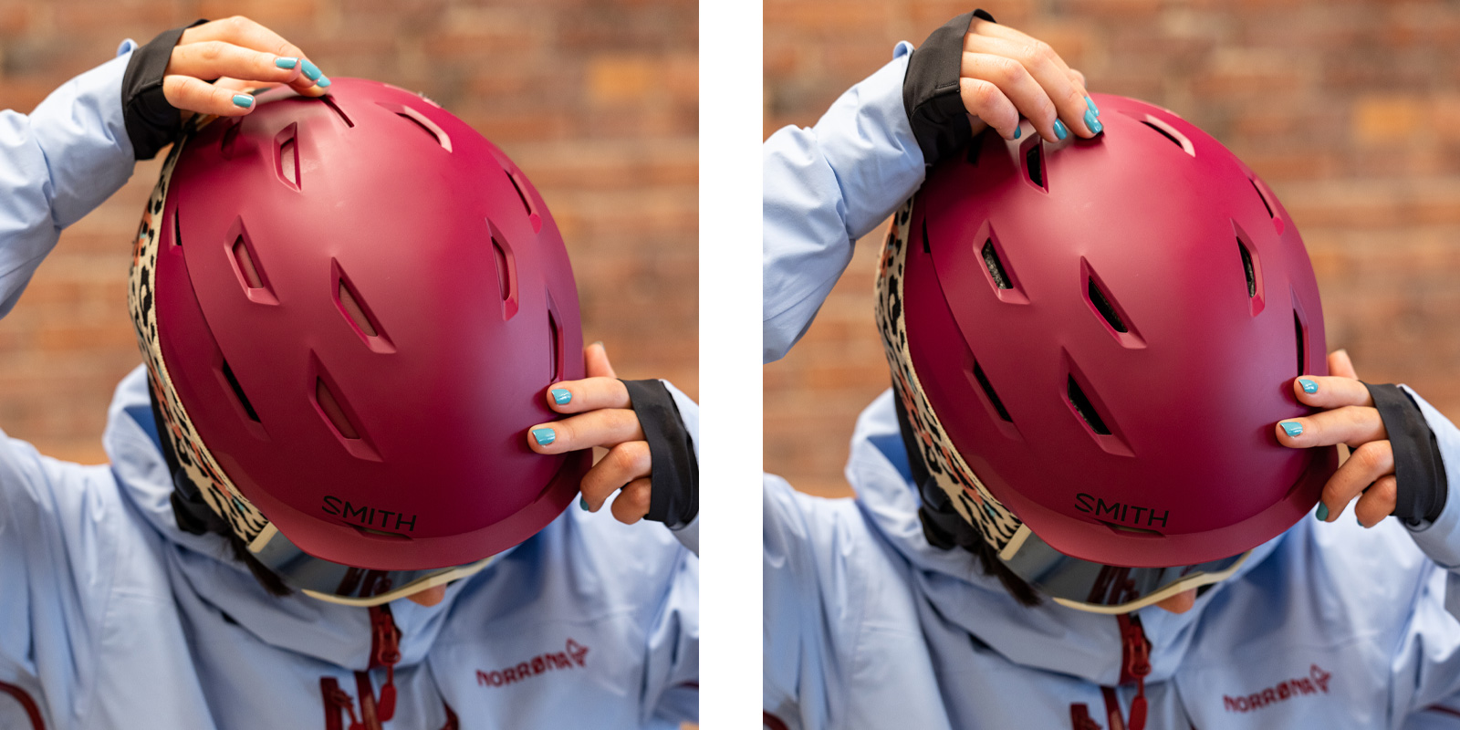 what to wear skiing helmets with vent