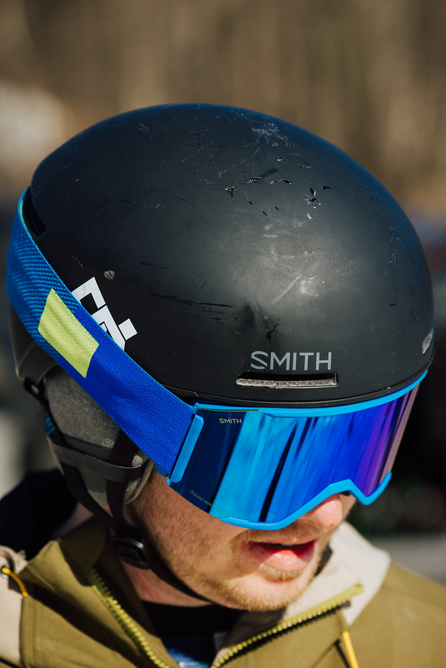 what to wear skiing helmets with no brim