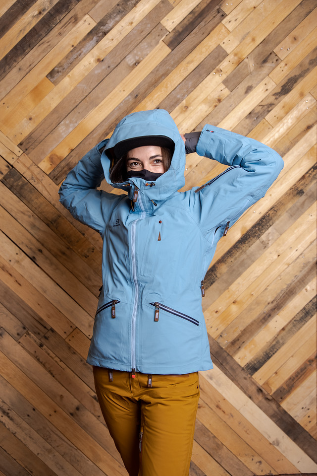 what to wear skiing insulated jacket