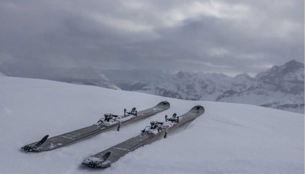 Marker Alpinist on Volkl Skis