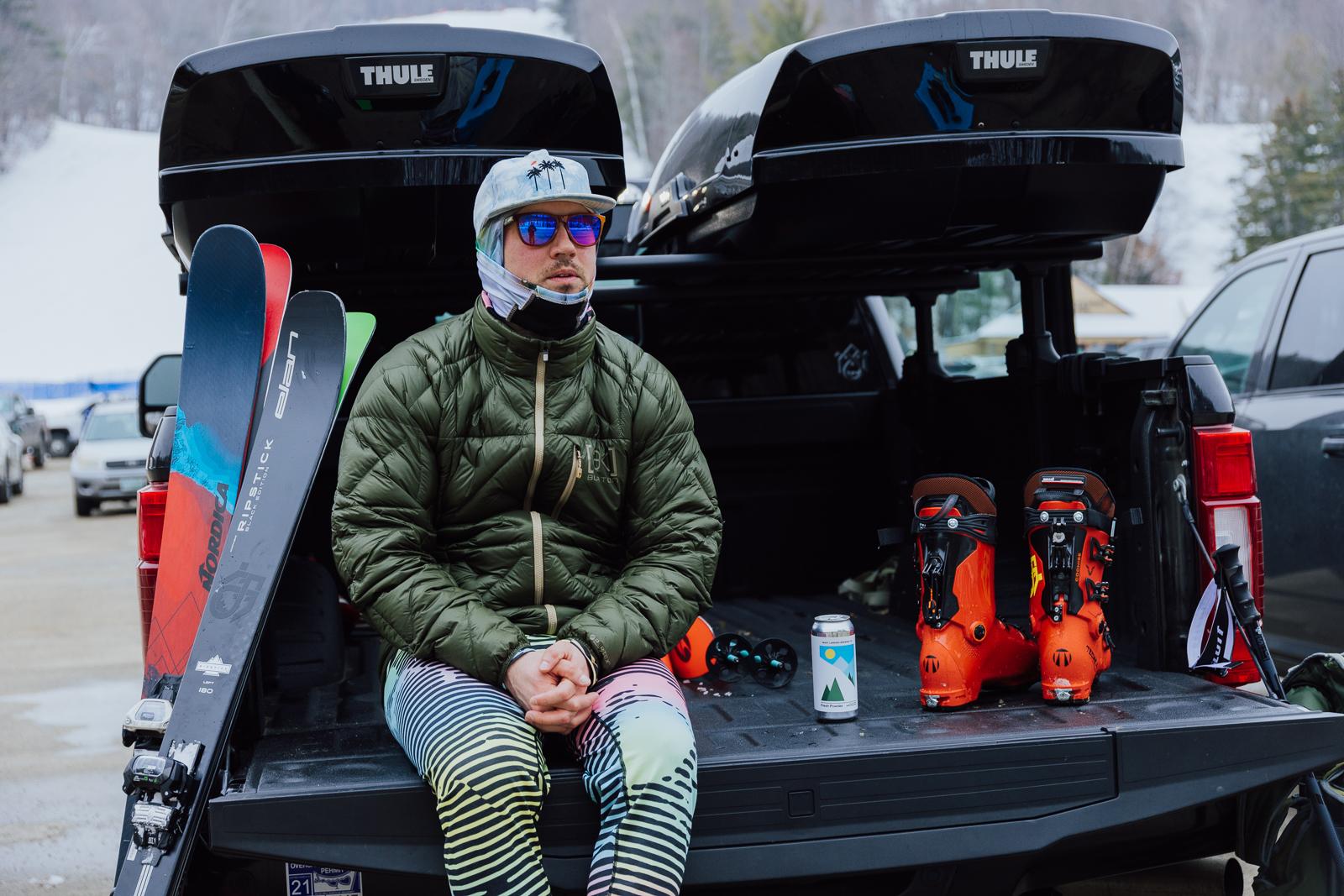 the ski monster, ski testing, ski test, blizzard skis, Nordica enforcer, elan ripstick, Volkl mantra, apres ski