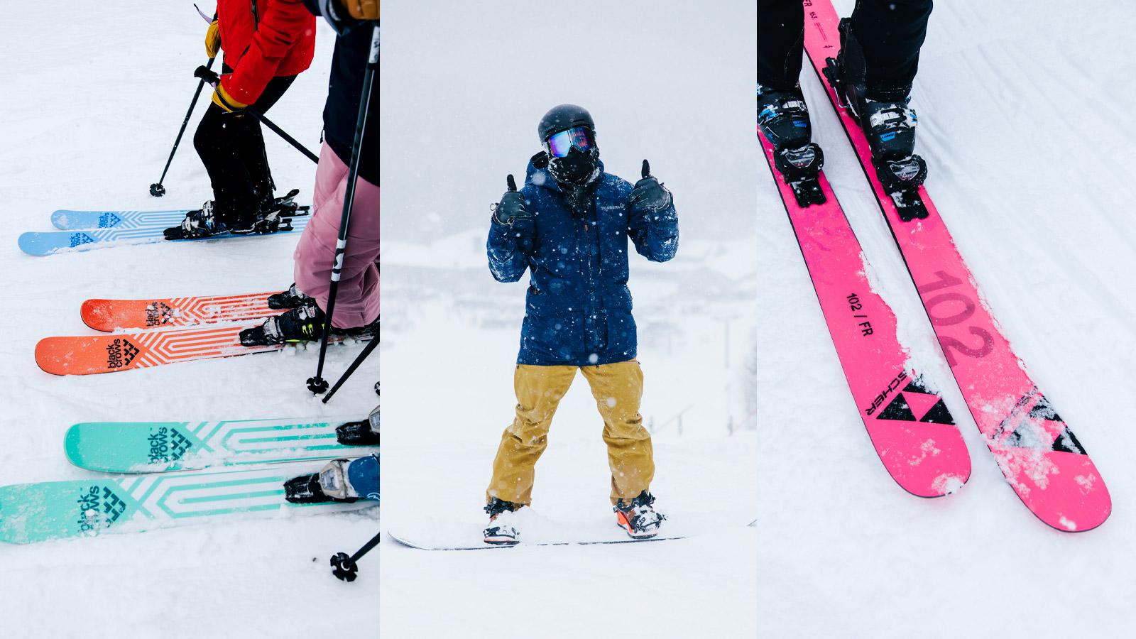 the ski monster, black crows skis, fischer skis, ski testing