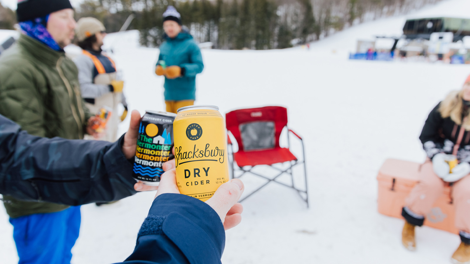 shacksbury cider, mount sunapee, skiing, the ski monster